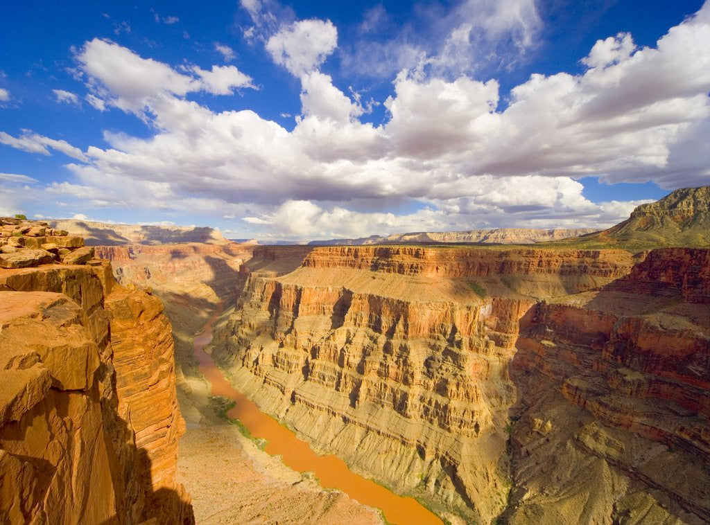 Detail of Grand Canyon and Colorado River by Corbis