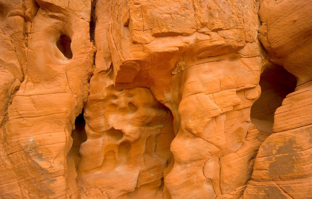 Detail of Eroded Sandstone Cliff With Holes by Corbis