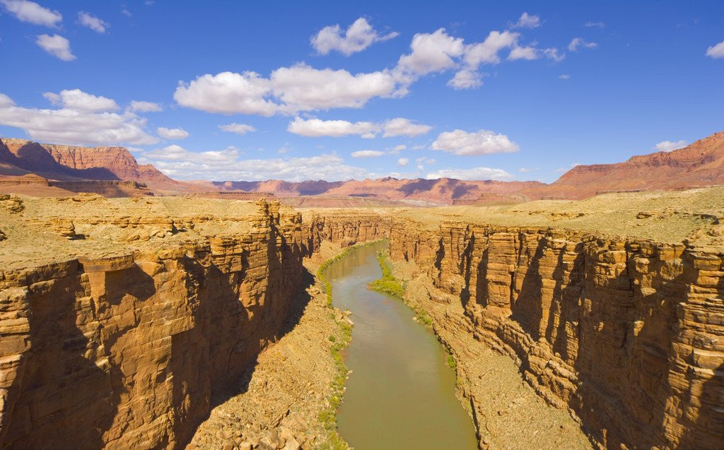 Detail of Marble Canyon and Colorado River by Corbis