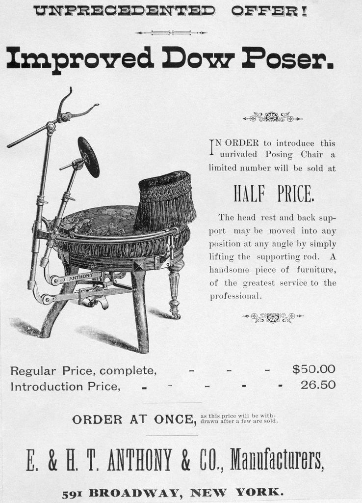 Detail of Photo Studio Equipment Advertisement by Corbis