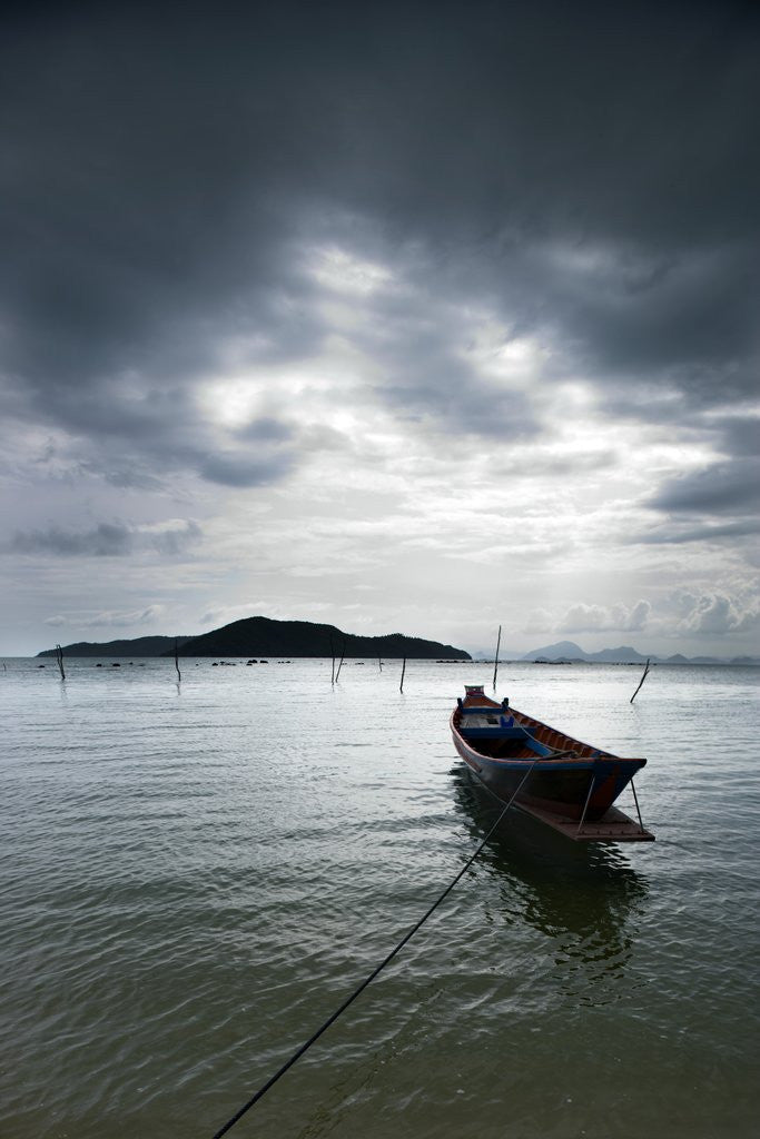 Detail of Fishing Boats in Thong Krut Bay in Koh Samui by Corbis