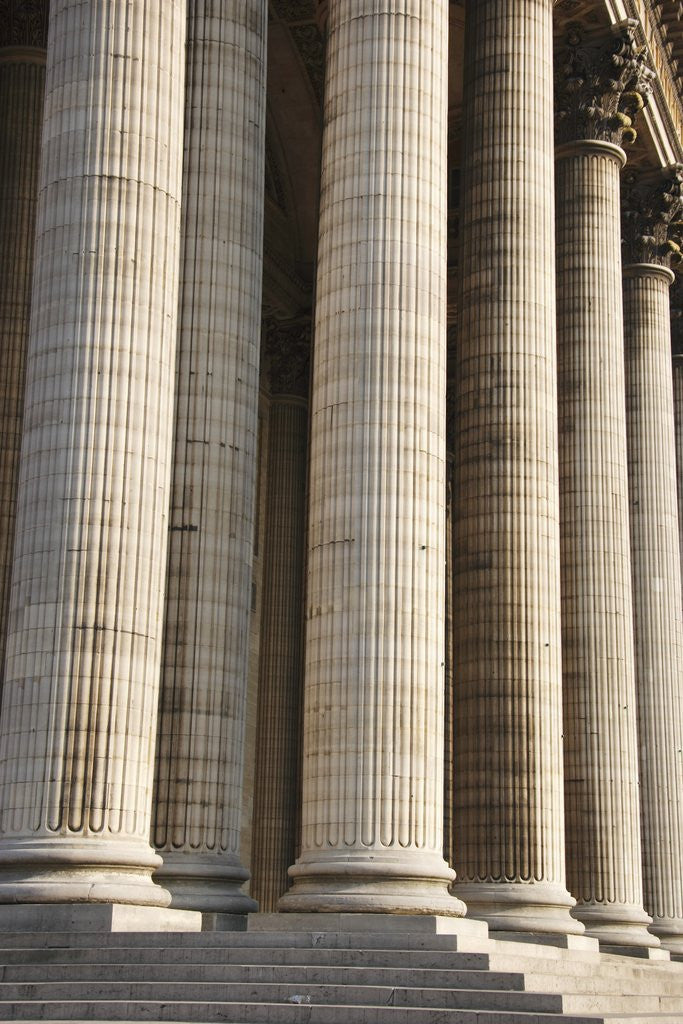Detail of Columns of Pantheon in Paris by Corbis