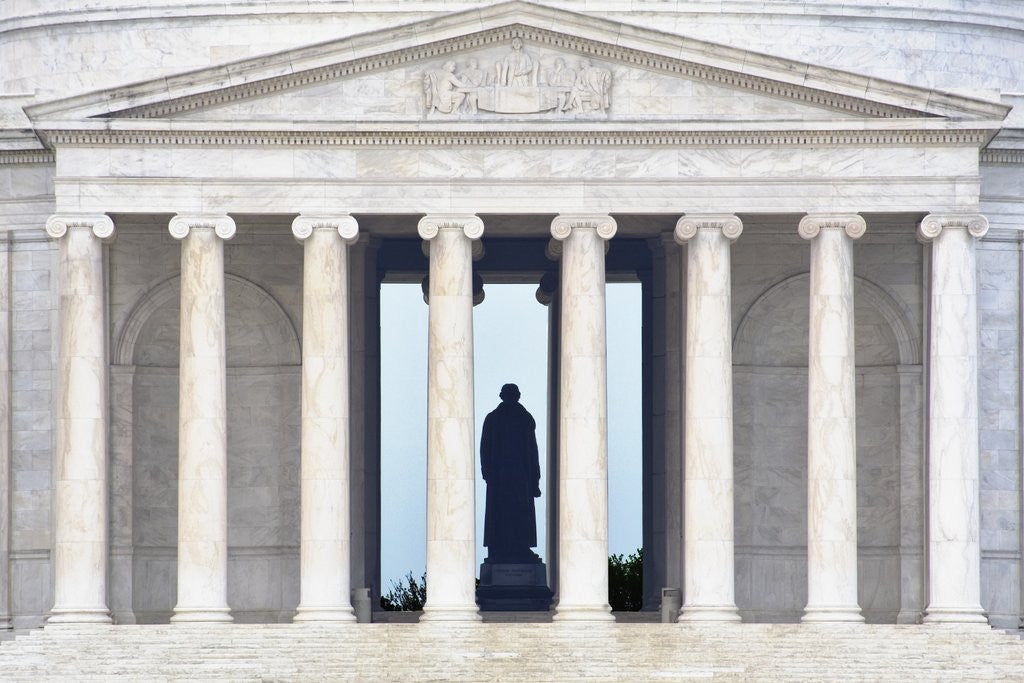 Detail of Detail of Jefferson Memorial by Corbis