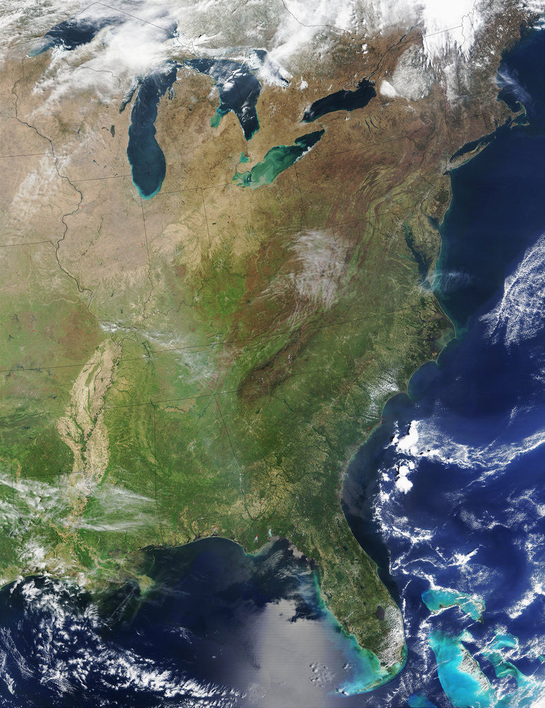 Detail of Eastern Half of the USA by Corbis
