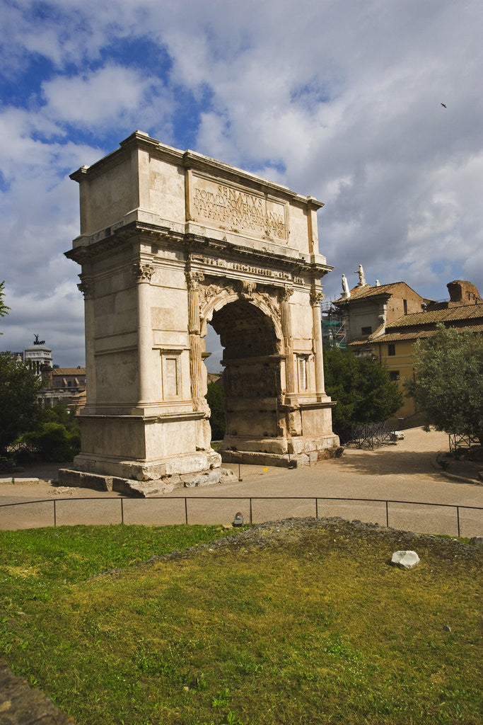 Detail of Arch of Titus by Corbis