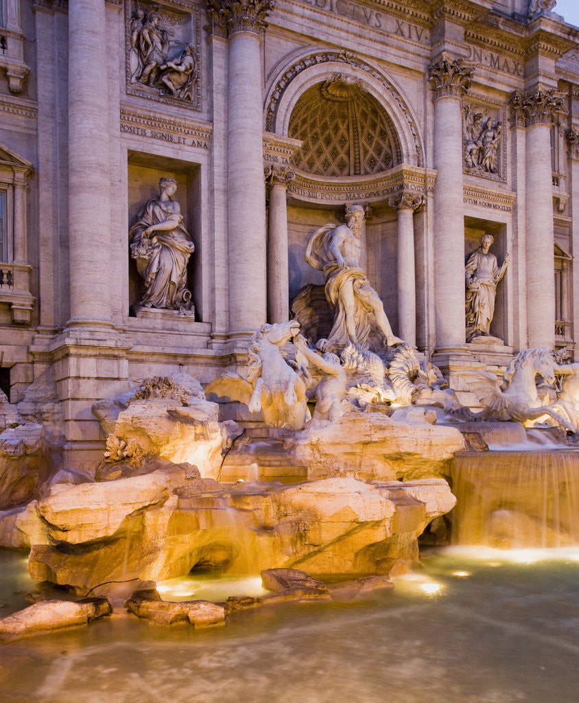 Detail of Trevi Fountain by Corbis