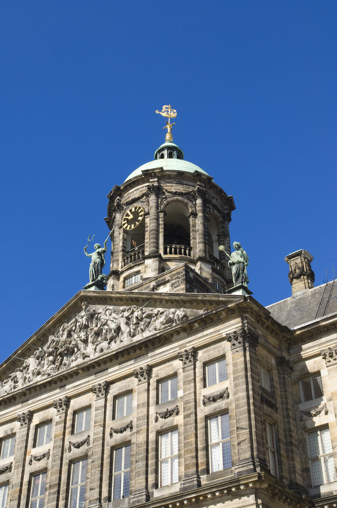 Detail of Amsterdam's Royal Palace by Corbis