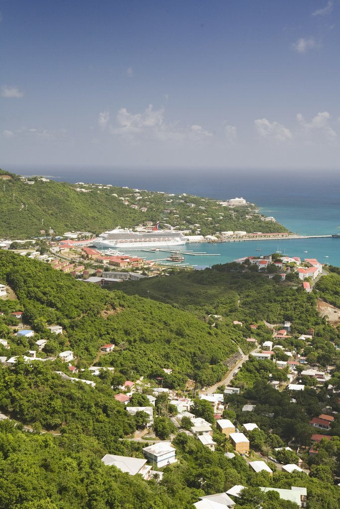 Detail of Charlotte Amalie on St. Thomas by Corbis