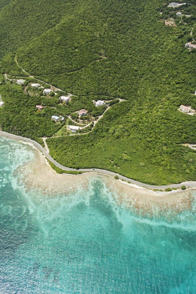Detail of Coastline West of Road Town on Tortola by Corbis