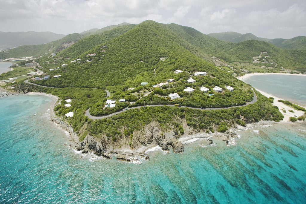 Detail of Coastline East of Road Town on Tortola by Corbis