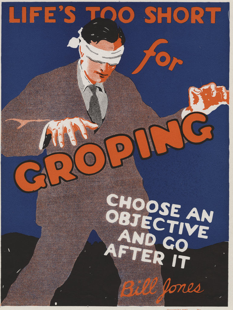Detail of Life's Too Short for Groping Motivational Poster by Corbis