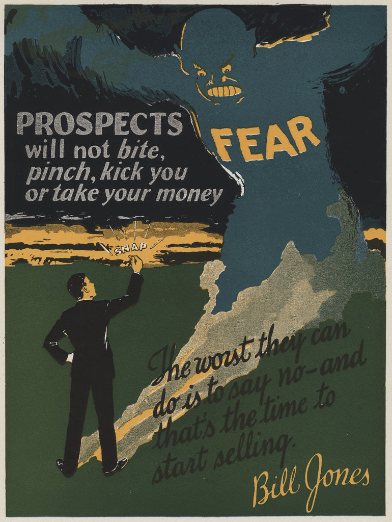 Detail of Prospects Motivational Poster by Corbis