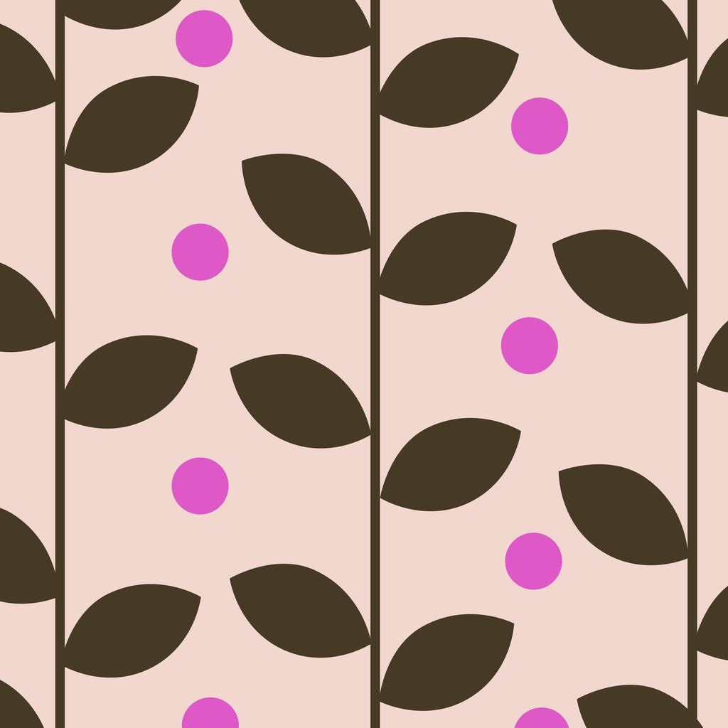 Detail of Brown Leaves on Pink Pattern by Corbis