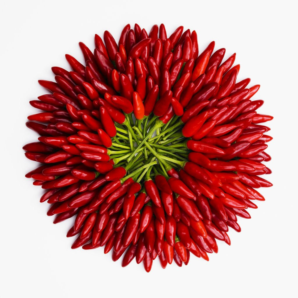 Detail of Chili peppers by Corbis