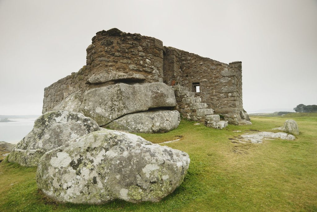 Detail of Old Blockhouse Gun Tower Ruins on Tresco by Corbis