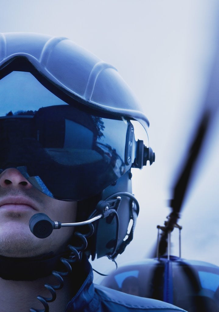 Detail of Helicopter Pilot by Corbis