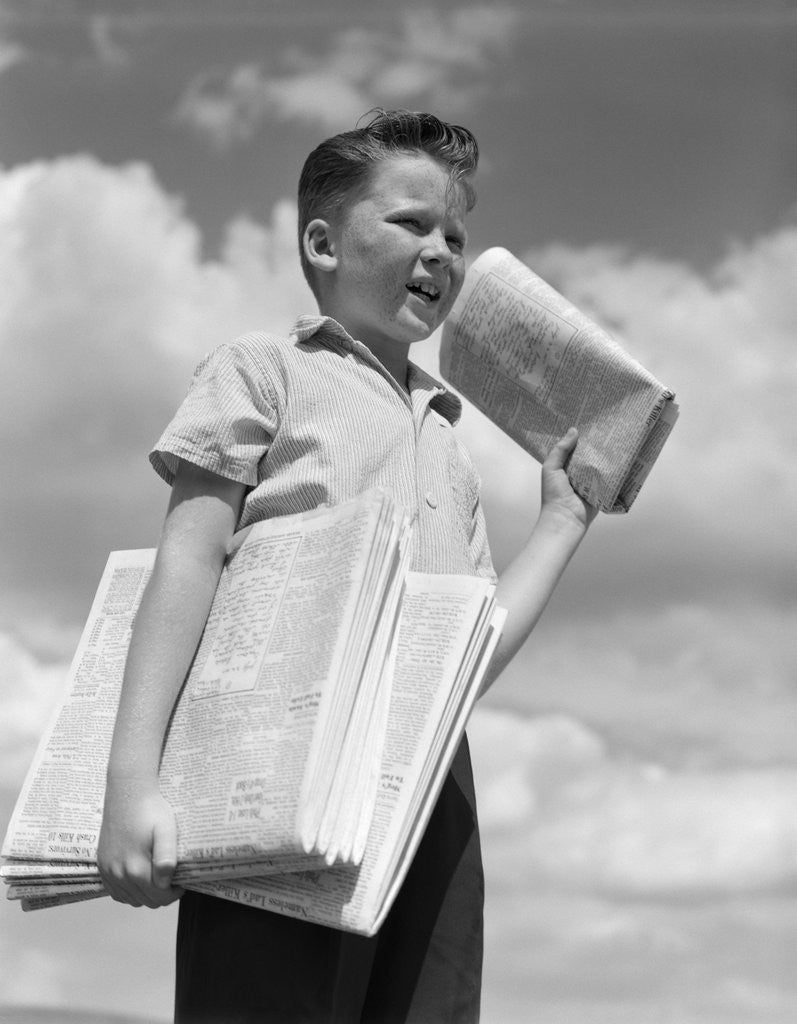 Newspaper Boy Images