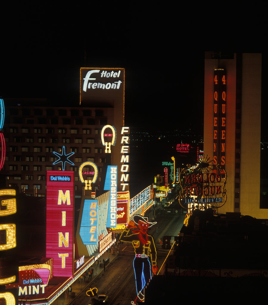 Detail of 1960s Las Vegas Fremont Street by Corbis