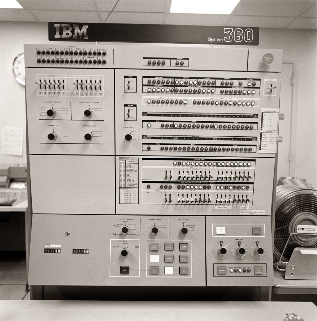 Detail of 1960s 1970s Control Panel Ibm System 360 Computer by Corbis