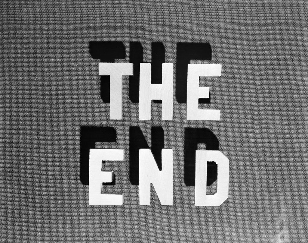 Detail of 1930s The End Retro Movie Title by Corbis