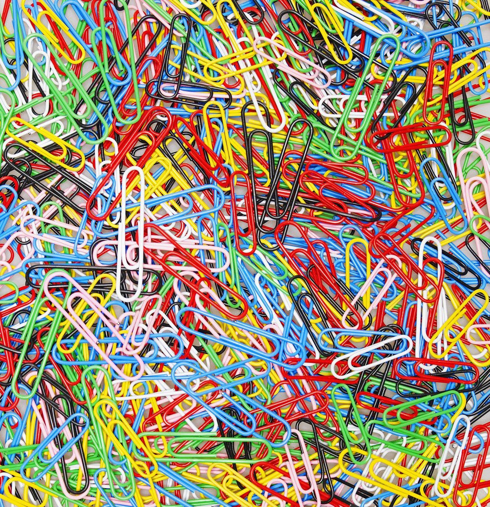 Detail of Colorful Paper Clips by Corbis