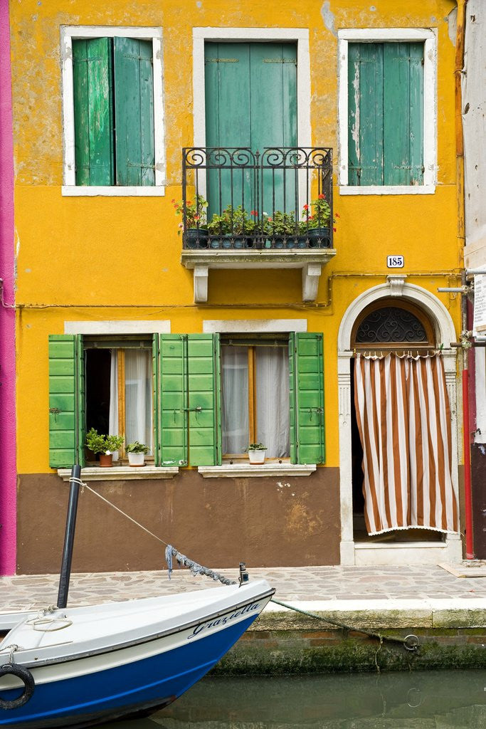 Detail of Colorful House on Burano Island by Corbis