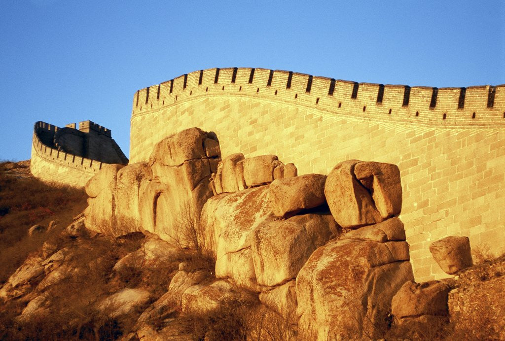 Detail of Great Wall by Corbis