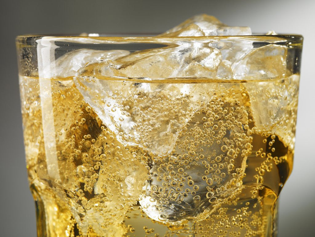 Detail of Close-up of Cider on Ice by Corbis