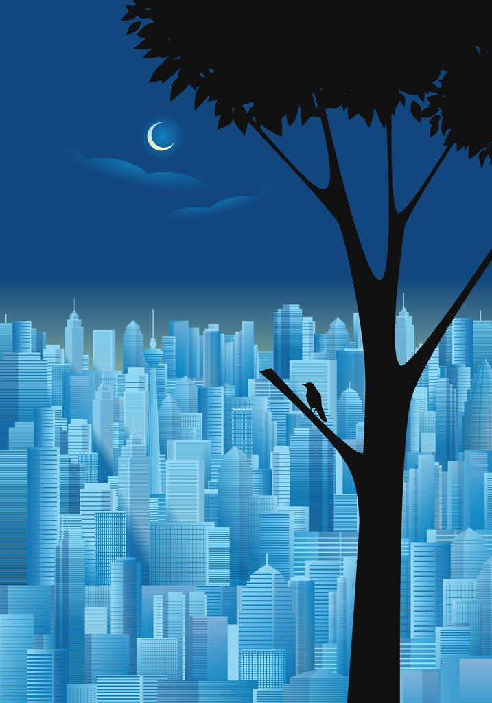 Detail of City at Night by Corbis