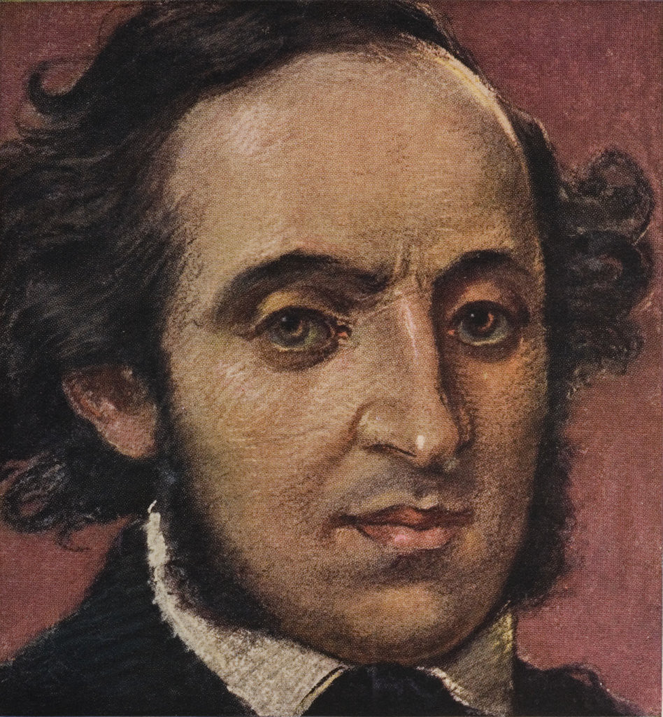 Detail of German Composer Felix Mendelssohn by Corbis