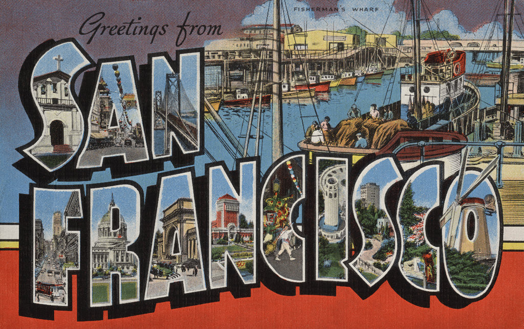 Greetings from san francisco postcard posters prints by corbis detail of greetings from san francisco postcard by corbis m4hsunfo