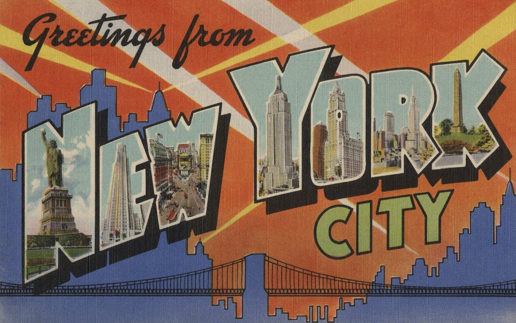 Greetings from new york city postcard posters prints by corbis detail of greetings from new york city postcard by corbis m4hsunfo