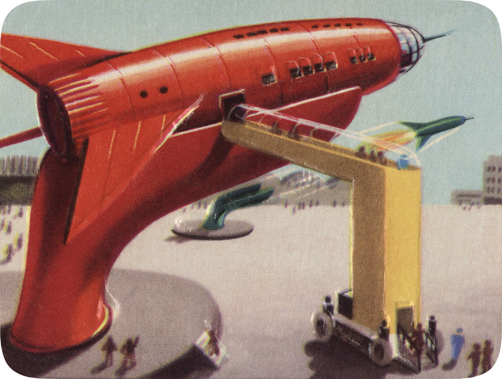 Detail of Biekens Pictorial Sticker with Giant Ray Gun by Corbis