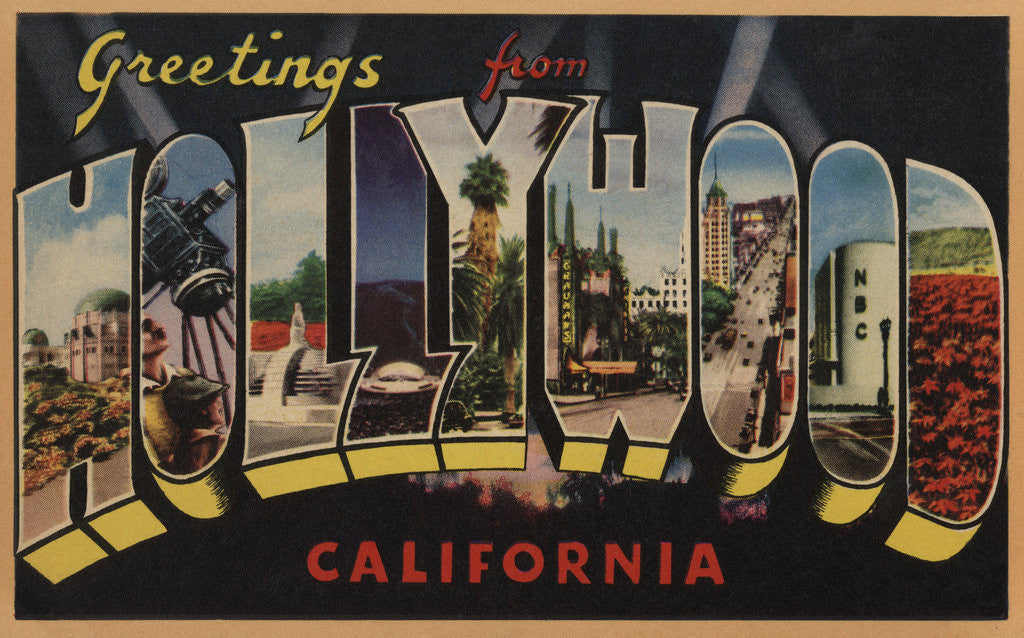 Greetings from hollywood california postcard posters prints by corbis detail of greetings from hollywood california postcard by corbis m4hsunfo