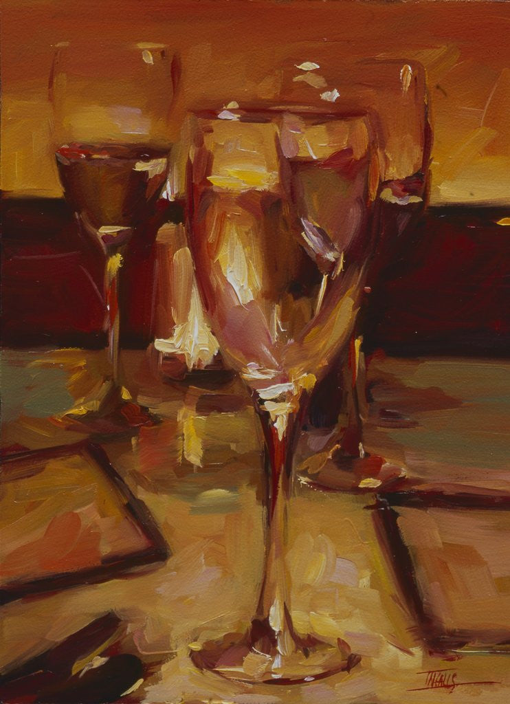 Detail of Wine Glasses, Paris by Pam Ingalls