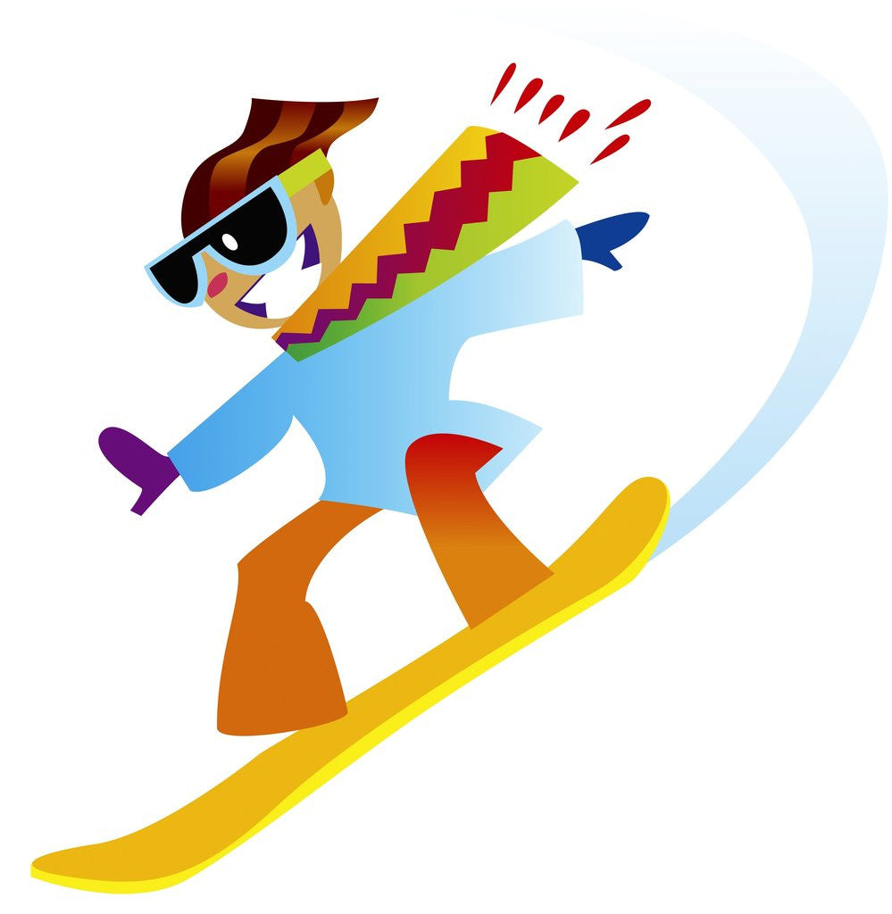 Detail of Freestyle Snowboarder by Corbis