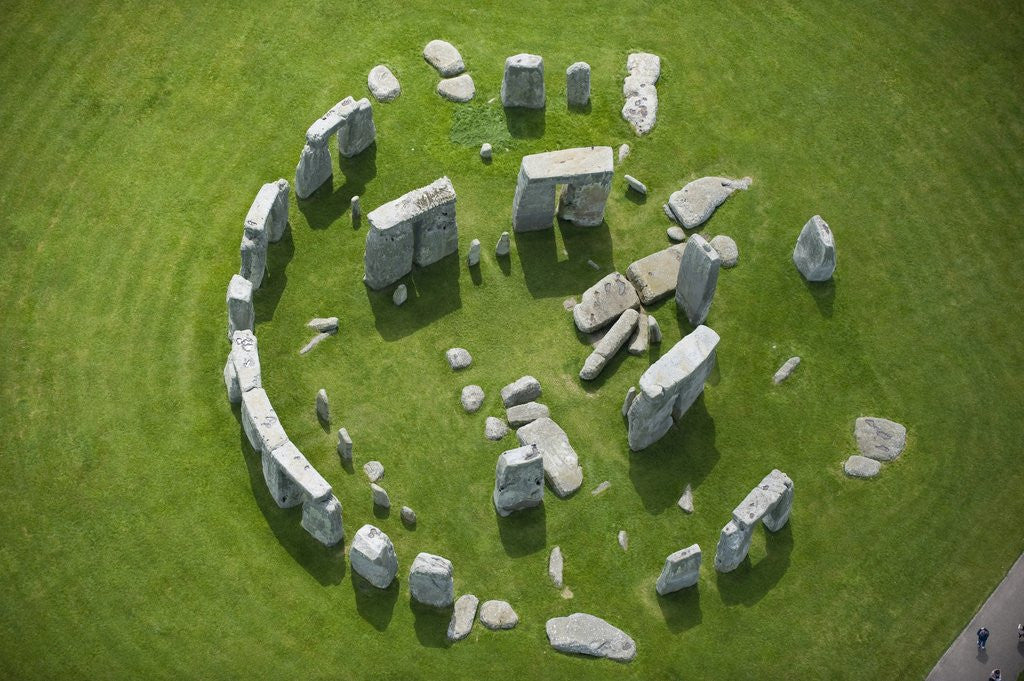 Detail of Aerial View of Stonehenge by Corbis