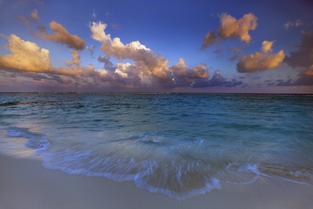 Detail of Sunset Over Lagoon at Soneva Fushi Resort in the Baa Atoll by Corbis