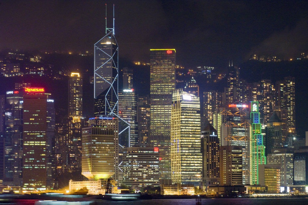 Detail of A Symphony of Lights in Hong Kong by Corbis