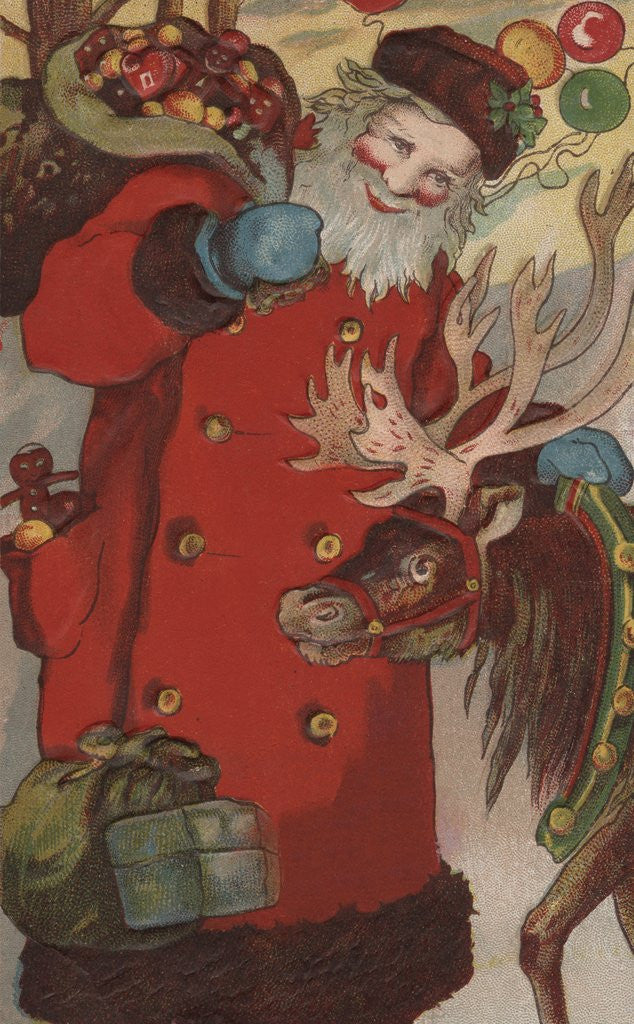 Detail of A Happy Christmas Postcard by Corbis
