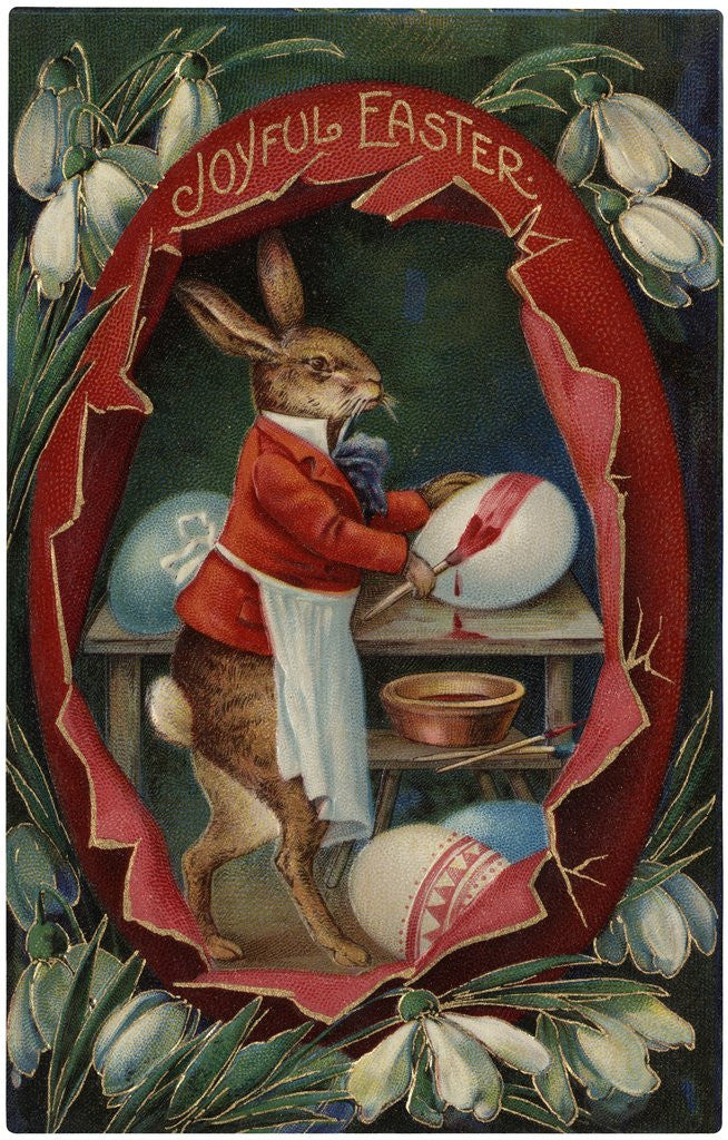 Detail of Joyful Easter Postcard by Corbis