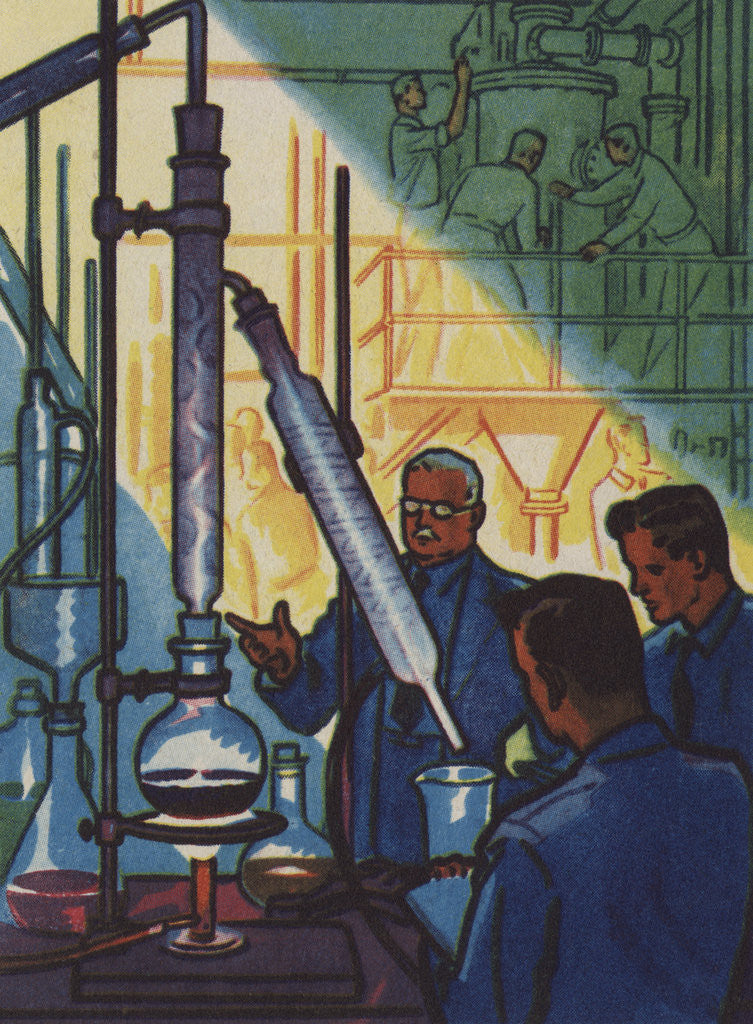 Detail of Becoming Oil Experts Illustration by Corbis