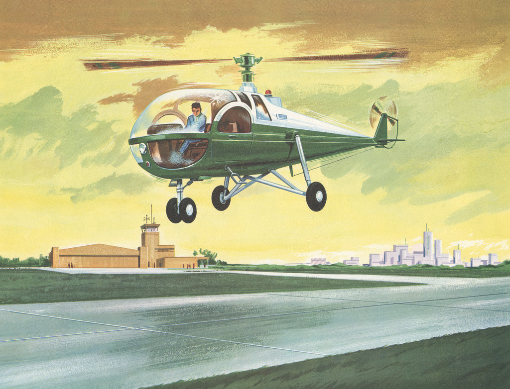 Detail of Illustration of Helicopter by Corbis