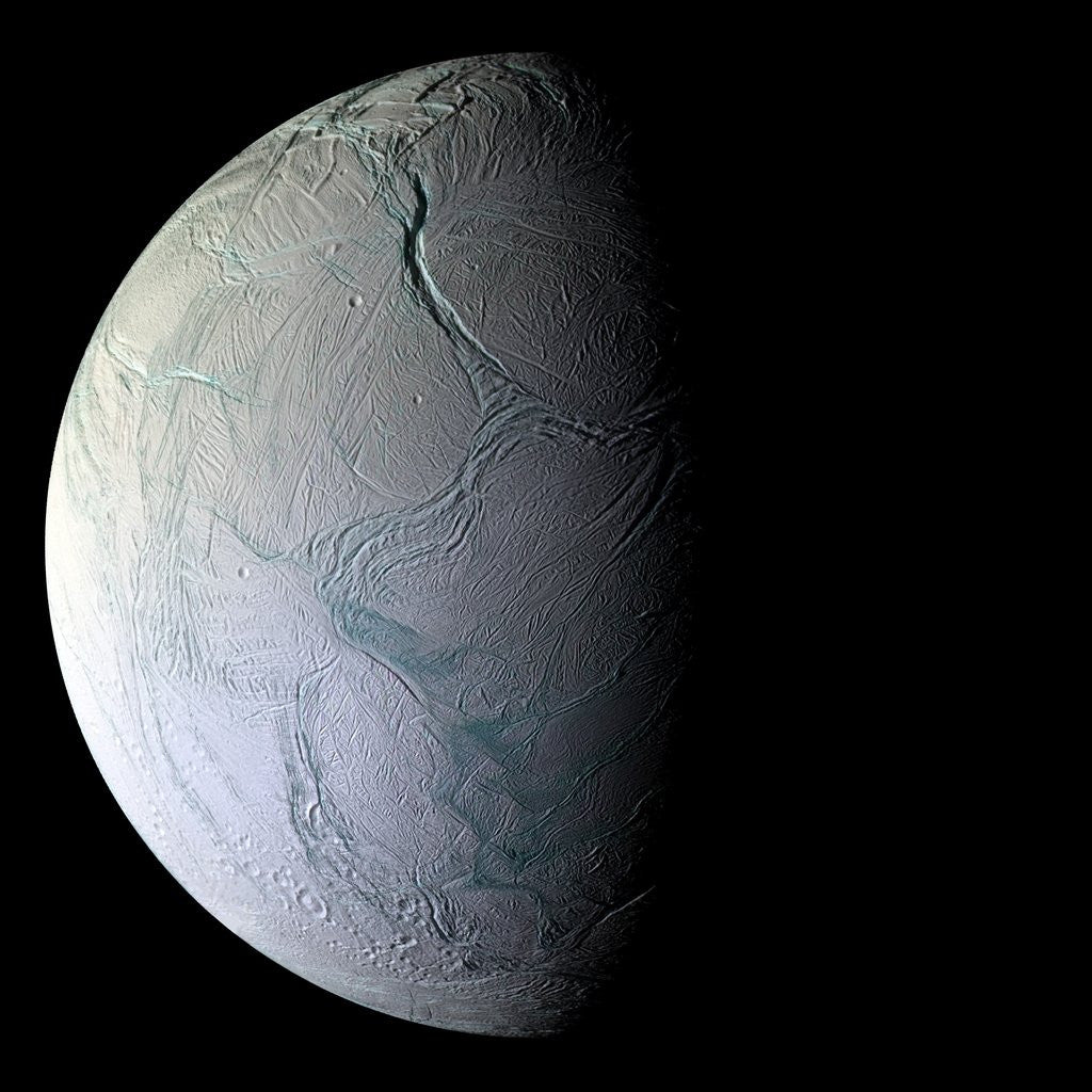 Detail of Enceladus by Corbis