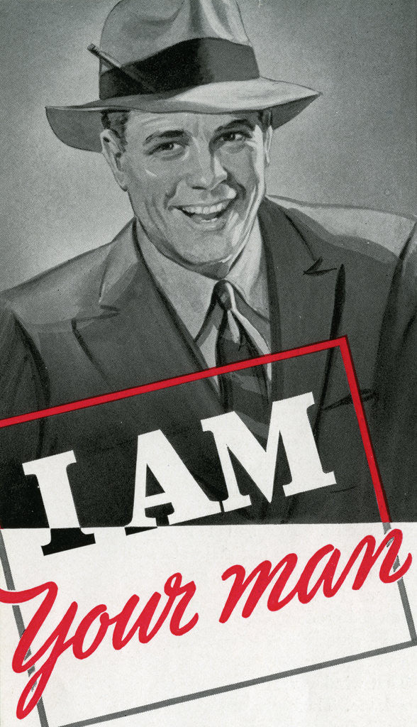 Detail of I Am Your Man Illustration by Corbis