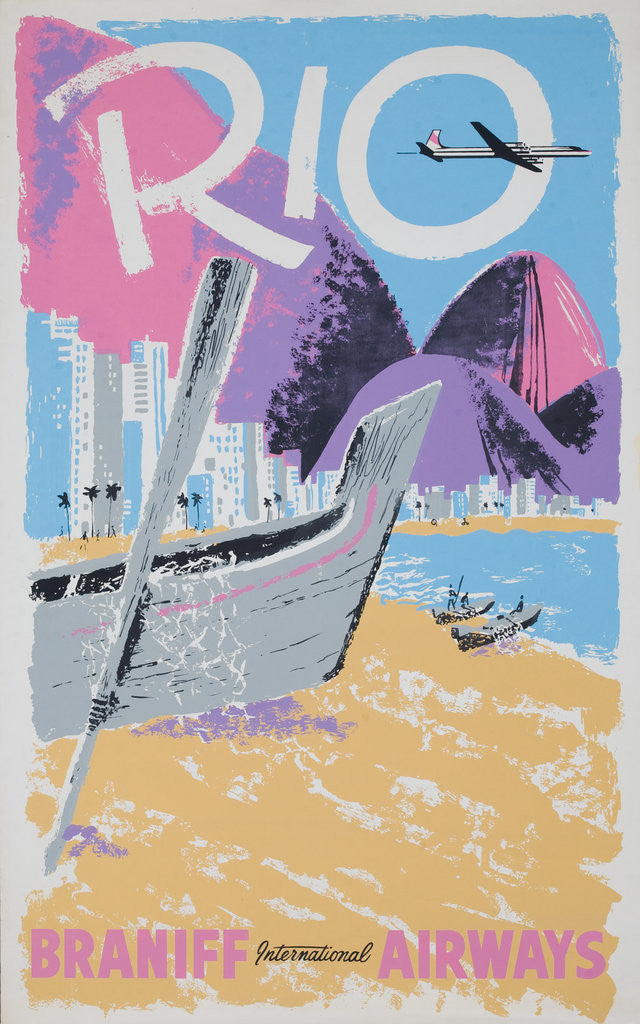 Detail of Rio Braniff International Airways Poster by Corbis