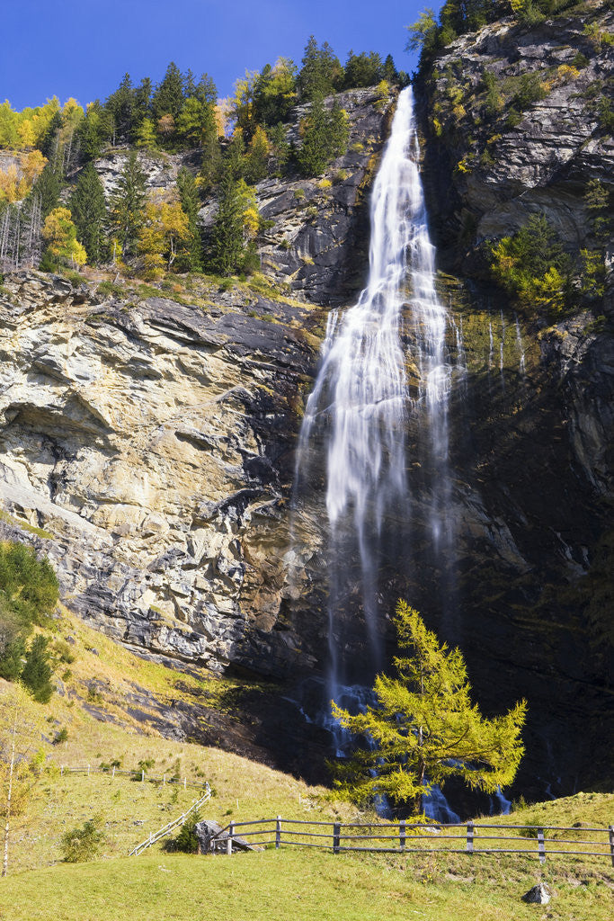 Detail of Fallbach Waterfall in Autumn by Corbis