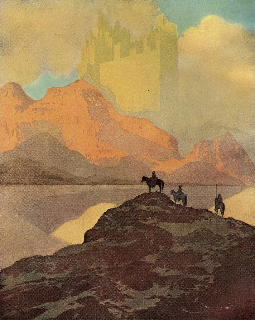 Detail of City of Brass Illustration by Maxfield Parrish