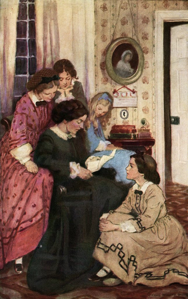 Detail of They All Drew to the Fire by Jessie Willcox Smith