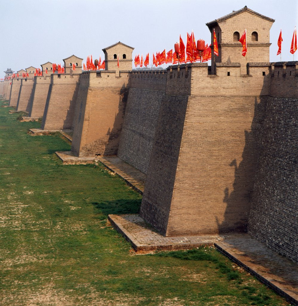 Detail of Walls of the Pingyao ancient city by Corbis